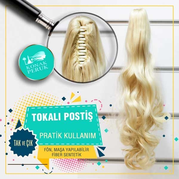 """Tokalı Postişler kullanım kolaylığı ile bayanların çokça tercih ettiği saç ürün gamları arasındadır. Ürünlerimiz şampuan ile kolayca yıkanabilir, saç kremi uygulanabilir, rahatça taranabilir, fön çekilebilir, parlama yapmayan birinci sınıf Fiber Kanekalon malzemeden imal edilmiştir. Tüm ürünlerimiz gibi kapıda ödeme seçeneği ile güvenli alışverişin keyfini çıkarabilirsiniz. [block id=""""sss-postis""""]"""
